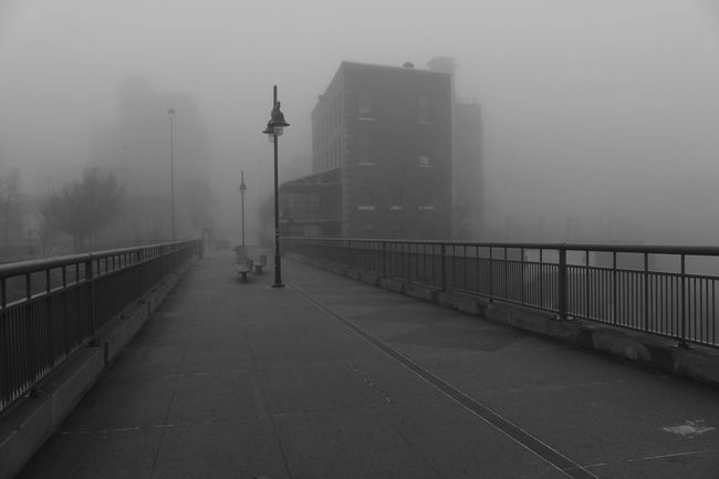 New York Street Photography Foggy Weather. Fog City Rochester, NY Foggy Day Fog_collection No People Outdoors. Fog Full Length Day fo Hello World TakeoverContrast Urban Urban Landscape Urban Photography Urban Lifestyle Urbexexplorer Rochesternewyork
