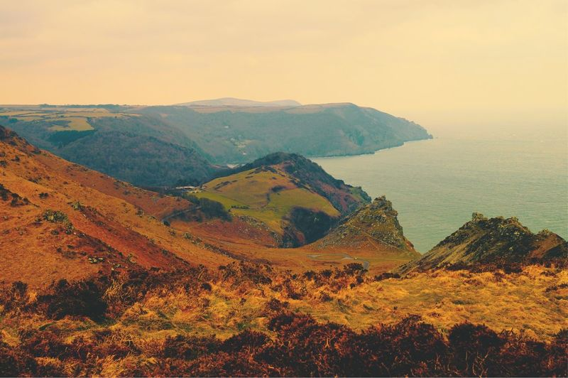 Playing around with new Photography applications, this is a picture from Lynton consisting of possibly some of the most beautiful views and scenery in the UK. EyeEm Nature Lover Scenery Landscape Nature Detail Angles Landscape_Collection Sea And Sky Explore Devon England EyeEm Best Shots Sea Photography Scenics Striking Colors Tones Outdoors View