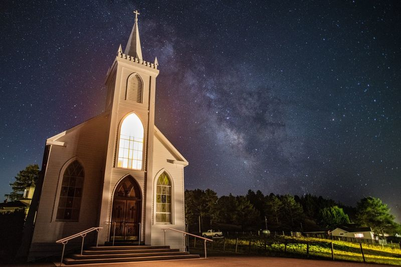 It's for The Birds Nikond850 Benro Nikond850 Milkyway Night Astronomy Architecture Built Structure Space Star - Space Building Exterior Place Of Worship Building Religion Sky Galaxy Nature Star Spirituality Tower Star Field Belief Space And Astronomy No People