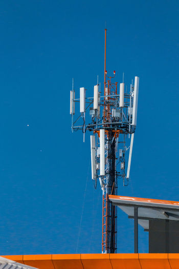 Antenna - Aerial Blue Building Clear Sky Communication Night Outdoors Sky