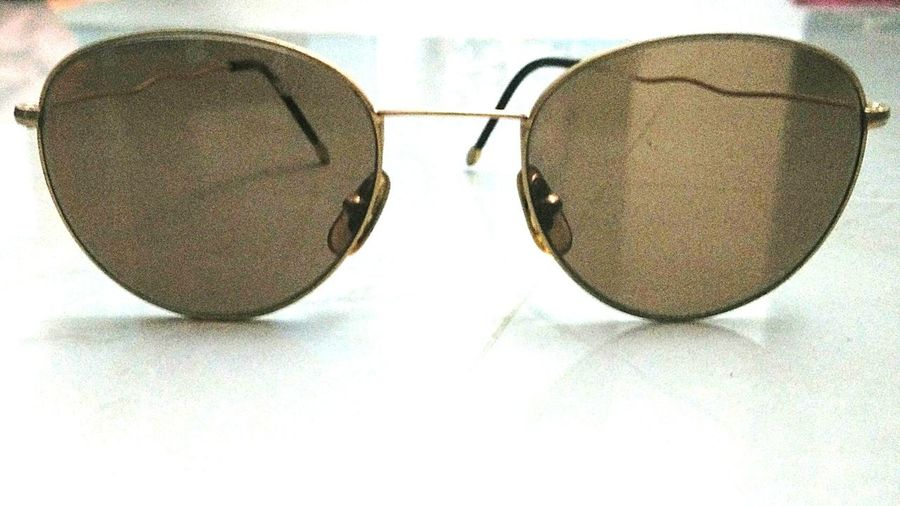 Goggles Shades Golden Frame Retro Style Swag Fashion Showcase June
