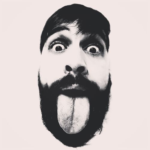 Human Face Young Adult Portrait Beard Guy Black Beard Crazy Face Big Tounge Tounge Out  Tounge Action Tounge Self Portrait This Is My Skin
