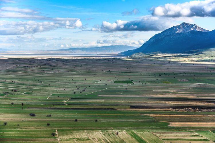 Landscape Tranquil Scene Nature Beauty In Nature Field Cloud - Sky Scenics Idyllic Outdoors Mountain