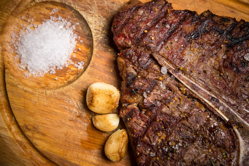Beef Beef Steak Cooking Dinner Barbecue Beef Beefsteak Close-up Cooked Day Dinner Directly Above Food Food And Drink Freshness Indoors  Meat No People Plate Ready-to-eat Restaurant Roast Dinner Roasted Serving Dish Spice Steak T-bone T-bone Steak Table Wood - Material