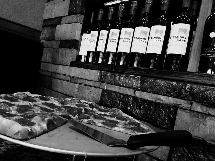 Pizza 🍕! Yummy! Food Food And Drink Food Porn Pizza Time Wine Pizza🍕 Indoors  No People Variation Choice Food And Drink Retail  Arrangement Freshness Large Group Of Objects Small Business Food High Angle View