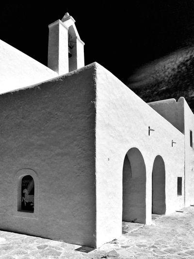 Ibiza Eivissa Architecture Popular Art Church Black And White Mediterranean Village Traditional House Religious Architecture