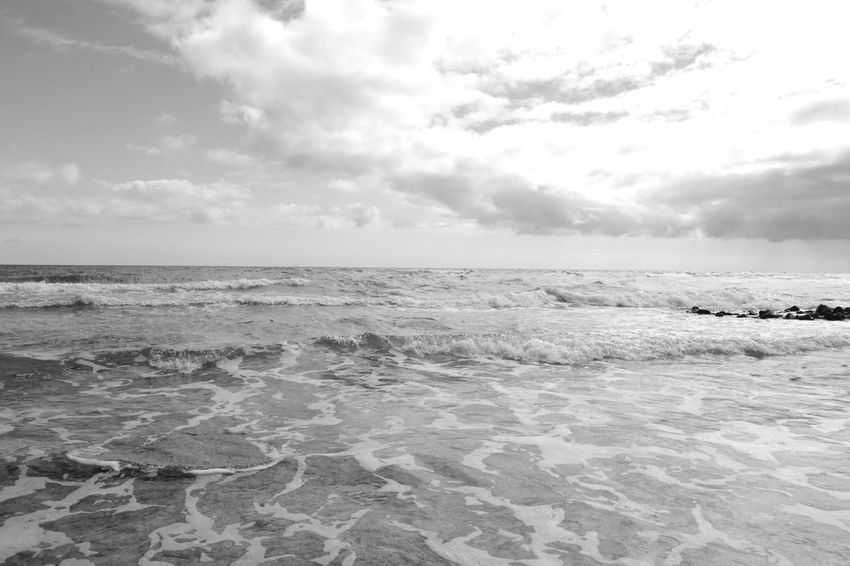 Beach Beauty In Nature Beautiful Blackandwhite Photography Cloud - Sky Clouds And Sky Day Foamy Fuerteventura Greyscale Horizon Over Water Nature Nature No People Outdoors Pattern Scenic Scenics Sea Sky Tranquil Scene Tranquility Water Wave Wave