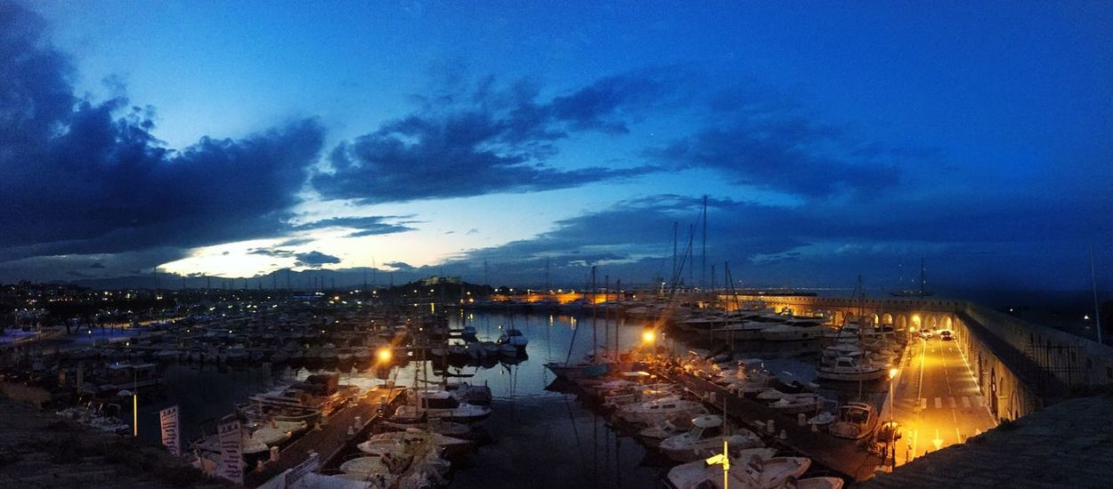 Antibes French Coast Sea Sea And Sky Seaside Port Night Night Lights Nightlife Taking Photos Côte D'Azur Sunset #sun #clouds #skylovers #sky #nature #beautifulinnature #naturalbeauty #photography #landscape Serenity Blue Darkclouds Boats Yatch SummerNights Ice Time Holydays