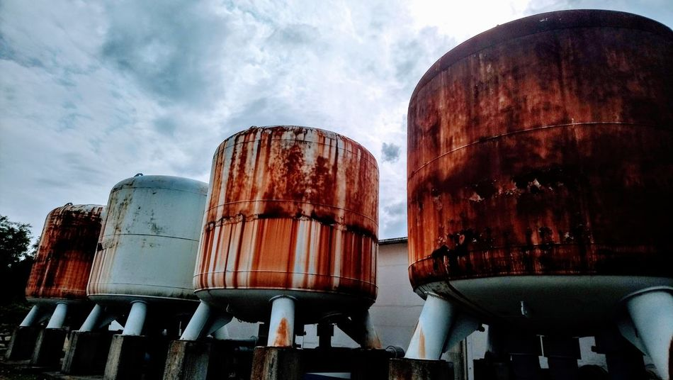 Rusty water tanks Sky Storage Tank Water Tower - Storage Tank Water Conservation Storage Tank Refinery Residential Structure