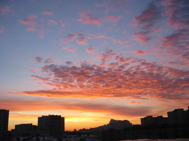 Moscow sky Sunset