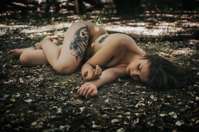 EyeEm Selects Lying Down Relaxation Adult Shirtless One Person People One Man Only Adults Only Outdoors Day Men Only Men Full Length Nature Young Adult Mammal