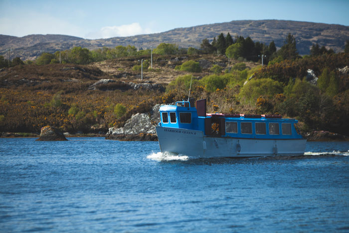 County Cork Ireland Wild Atlantic Way Beauty In Nature Blue Day Glengarriff Mode Of Transportation Mountain Nature Nautical Vessel No People Outdoors Passenger Craft Sailing Scenics - Nature Sea Sky Tranquil Scene Tranquility Transportation Travel Water Waterfront