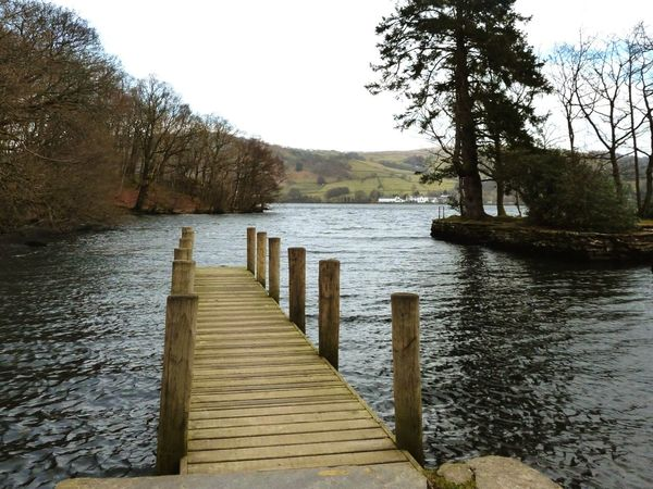 Lake Windermere Jetty Lake View Lakeshore Wray Castle Lake District Cumbria Low Wray Ambleside Spring Is Coming  Boathouse Lakeside
