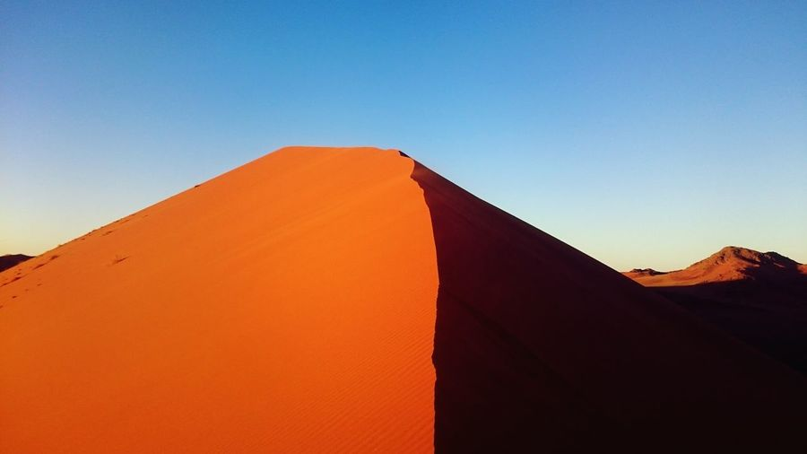 Desert Desert Beauty Deserts Around The World Desert Landscape Desert Life Dune Dunes Namibia Namib Desert Lonley Nature_collection Nature Photography Naturelovers Nature Orange Color Idyllic Sand Tranquility Silhouette Sunset Tranquil Scene Scenics