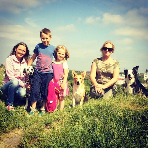 My friend Tanja and my family. Having Fun Varberg, Sweden