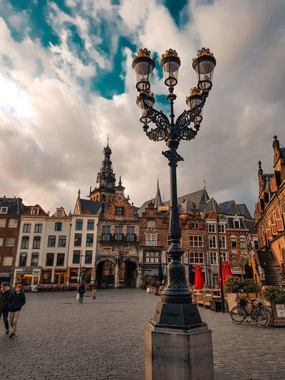 Church Church Architecture Lamp Post Landscape Old Town Arts Culture And Entertainment King - Royal Person Sculpture Cloud - Sky Statue Historic Sculpted Golden Color Male Likeness Sunset