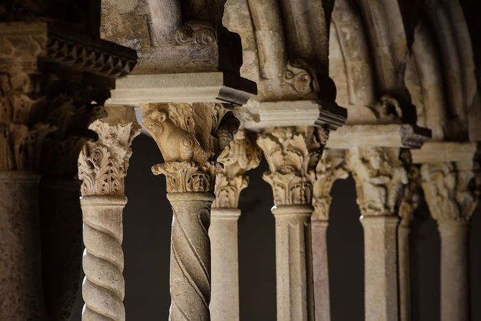 Cloister of Aix-en-Provence Cathedral, Provence, France Aix-en-Provence Ancient Arch Architectural Column Architecture Art Carving Cathedral Cloister Column Famous Place France History In A Row Monument Old Ornate Pillars Provence Row Of Things Spirituality Temple - Building The Past Tourism Travel Destinations