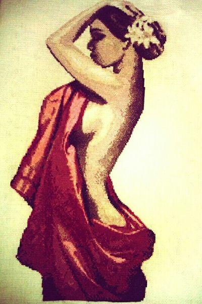 Canvas Art Handmade Women Beautiful