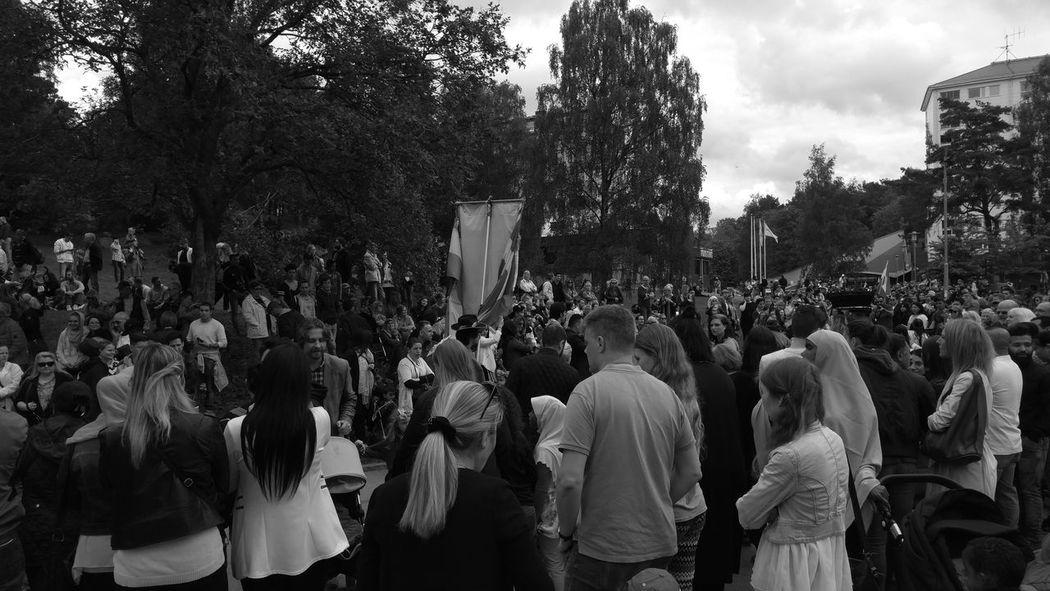 Monochrome Blackandwhite People Watching Carneval Hammarkullefestivalen Sweden Dancing