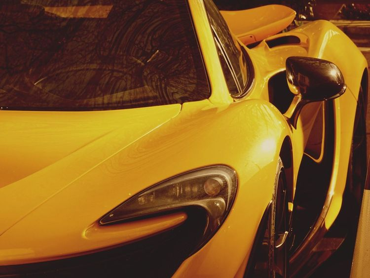 Car Transportation Yellow Old-fashioned No People Yellow Taxi Close-up Day Collector's Car Outdoors Vehicle Mirror McLaren Mclaren P1 London London Lifestyle Capital Cities  Supercar SupercarsofLondon