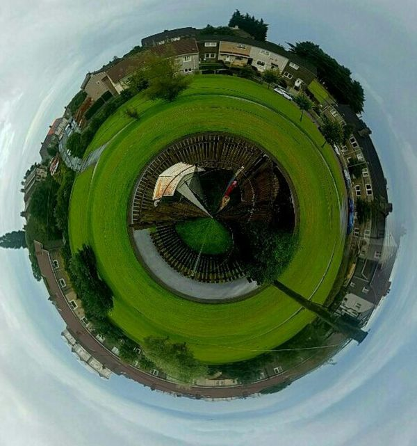 A Bird's Eye View Fish-eye Lens Built Structure Travel Destinations Circle The Past Sun History Green Color Majestic Vacations City Life Geometric Shape Building Story Tourism