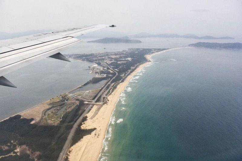 恥ずかしながら…初九州〜♪ From My Point Of View From An Airplane Window Sky Airplane Sea Airplane Wing Flying Journey
