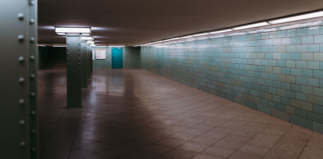 View of empty subway