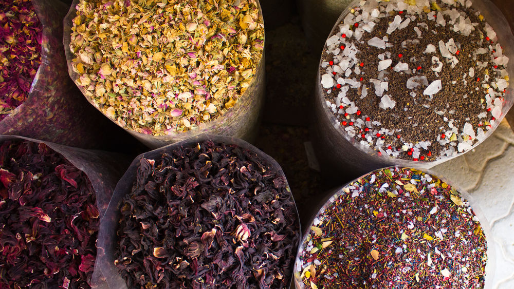 Traditional marketplace spice stands with myriad colors. #colors #spices #Textures Culture Dubai Food RosePetal Traditional First Eyeem Photo