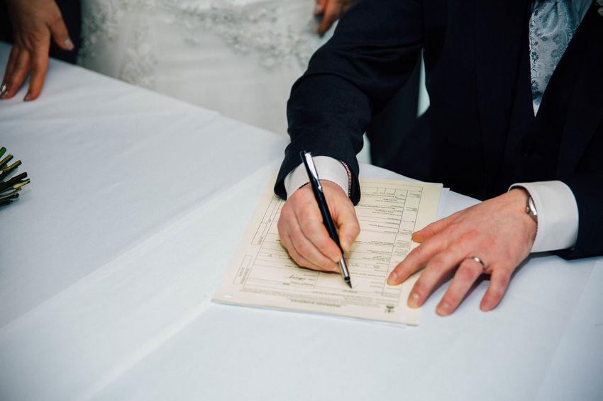 Close-up Human Body Part Human Hand Pen Signature Signing Wedding Wedding Day Wedding Photography Weddings Around The World Well-dressed