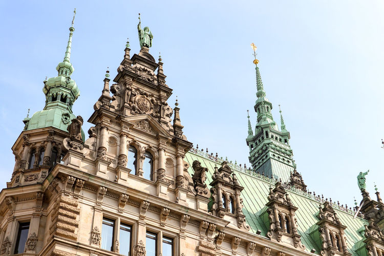 Hamburg Historical Building Rathaus Townhall Townhall Hamburg Architecture Building Exterior Built Structure City Low Angle View No People Travel Destinations