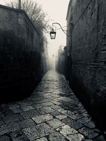 The Way Forward Architecture Built Structure Building Exterior Street Direction No People Nature Wall - Building Feature Narrow Street Light Diminishing Perspective Outdoors Wall Sunlight Building