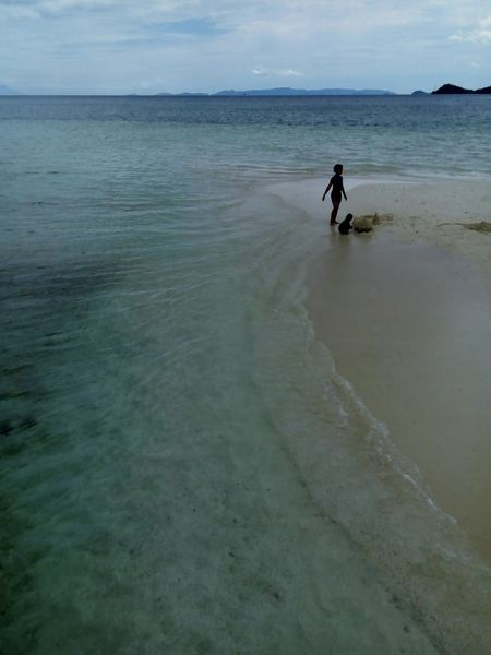 Island Tourism Travel Horizon Over Water Two People Childhood Leisure Activity Beach Sky Water Vacations Travel Destinations INDONESIA Lampung