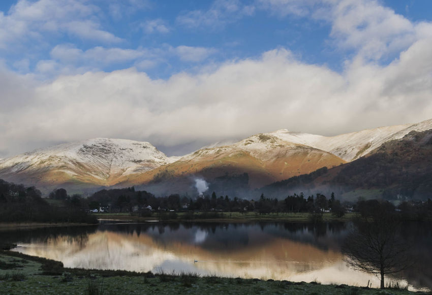 Reflection in Grasmere.😊 Snowcapped Mountain Snow Mountain EyeEm Best Shots Eye4photography  EyeEm Gallery EyeEm Best Shots - Nature Eyeemphotography Skyporn Sky And Clouds Lake View Lakes And Mountains Lake Water Fog Cloud - Sky Beauty In Nature Tranquil Scene Outdoors