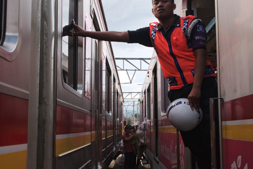 Bogor, January 2018 Streetphotography Documentaryphotography Train Train Station Commuting Commuter Commute Guard One Person One Man Only Adult Adults Only Only Men People Standing Occupation Day City Men