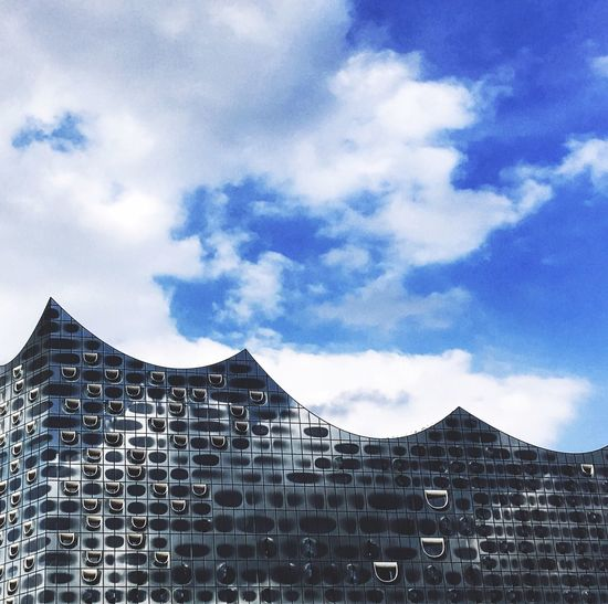 Architecture Sky Cloud - Sky Built Structure Building Exterior Elbphilharmonie Elphi Hamburg Hafencity