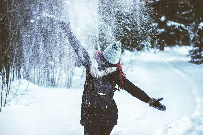 Winter Snow Women Day People Tree One Person Only Women One Woman Only Warm Clothing Nature Winter Wonderland Nature_perfection