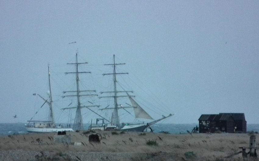 Dungeness Dungeness Kent Romney Marsh Sailing Ship Sailing Ships