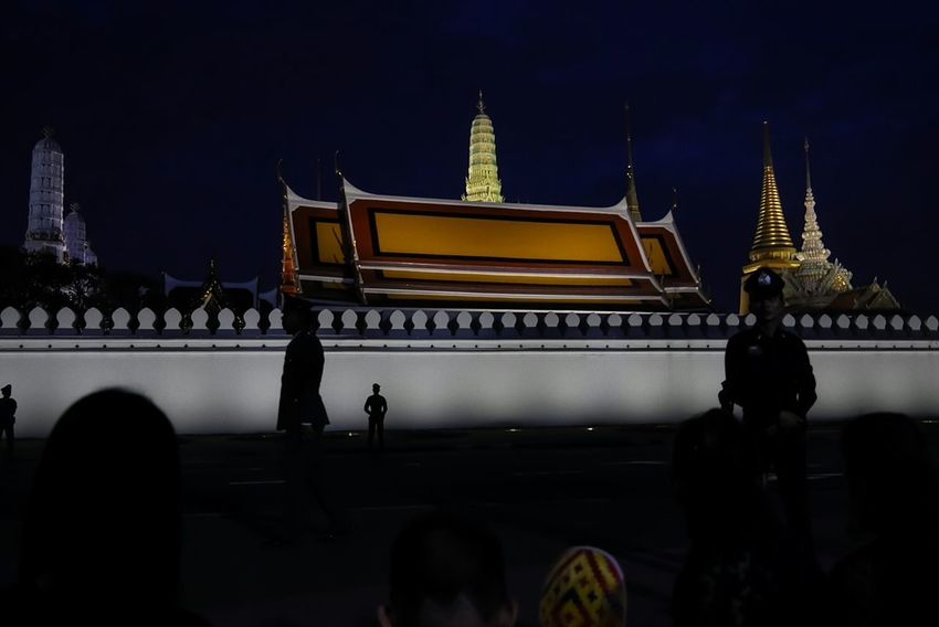 The Grand Temple - Bangkok City Photograph The City Light Bueatiful_place