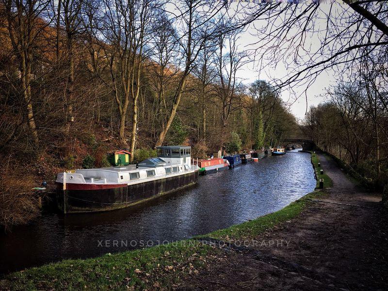 Hebden Bridge United Kingdom Rochdale Canal Boat Landscape EyeEm Nature Nature Photography Beauty Of Nature Transportation