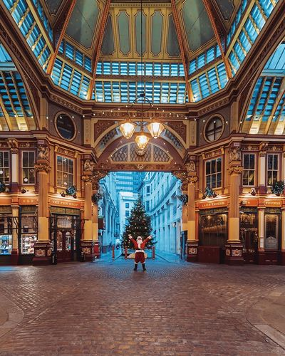 Santa Claus in London Architecture Travel Destinations Built Structure Indoors  One Person Adults Only People Adult Full Length One Man Only Men Christmas Santa Santa Claus Father Christmas Christmas Tree Christmas Lights Christmas Decoration City Only Men