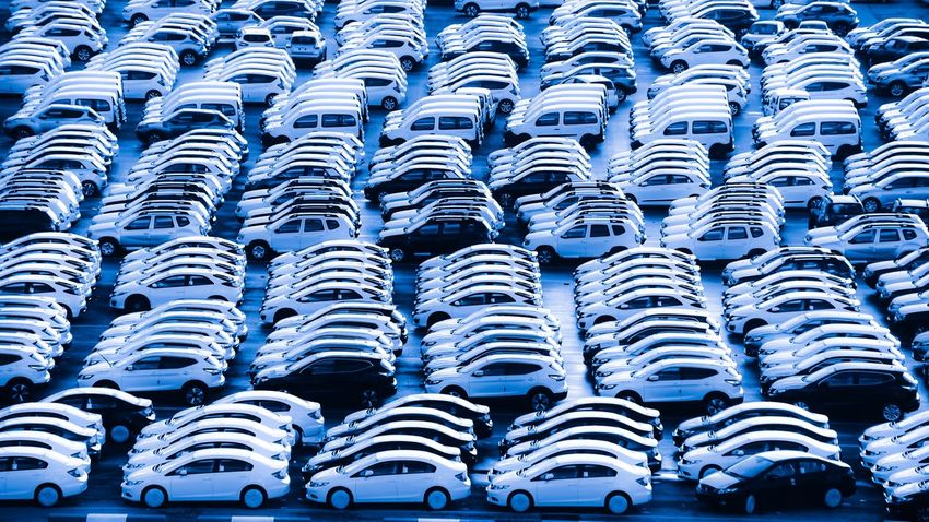 Abundance Automobile Blue Business Car Cars Day Export Export Industry Full Frame In A Row Large Group Of Objects Logistic Logistics Mode Of Transport No People Outdoors Stadium Transportation Business Stories Modern Workplace Culture