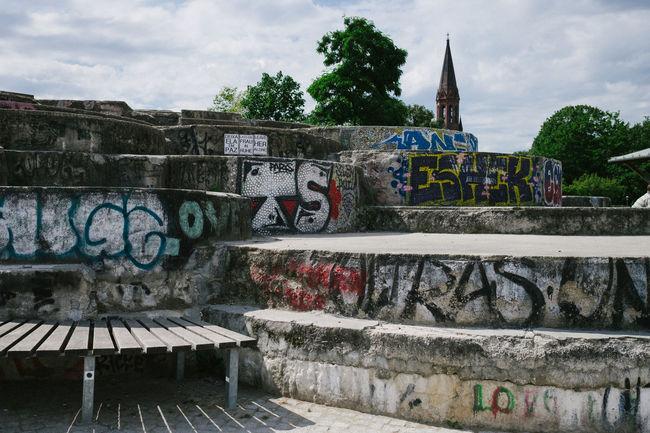 Architecture Berlin Built Structure Capture Berlin City City Life Creativity Day Deutschland Germany Graffiti Multi Colored No People Outdoors Park Life Sky Spray Paint Street Art Tree