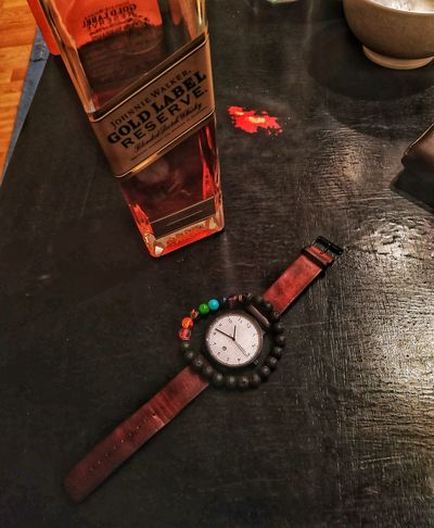 Watch Scotch Pride Johnny Walker Clock Fashion Time High Angle View Close-up First Eyeem Photo
