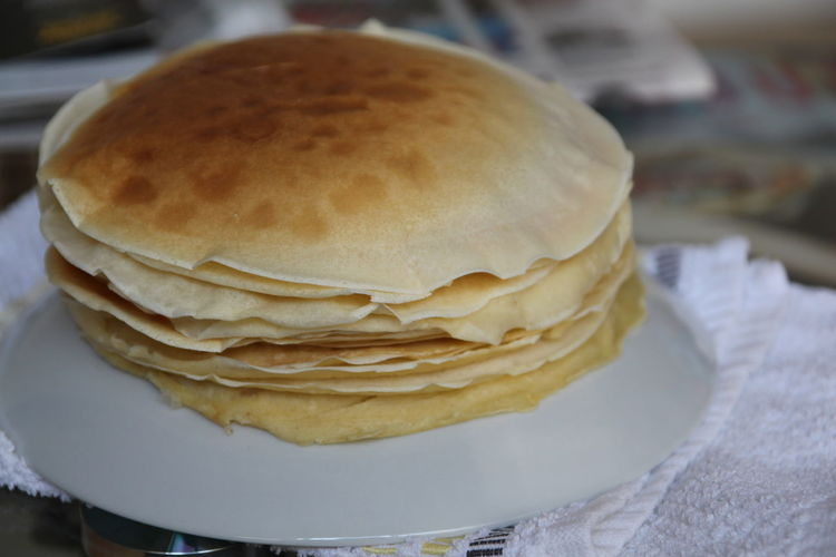 Close-up Food Homemade Pancakes Polish Food Ready-to-eat Snack Temptation