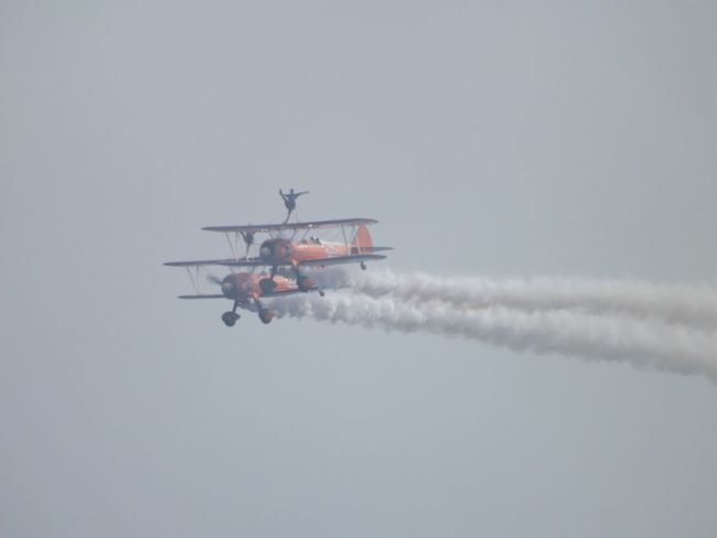 Aerobatics Air Vehicle Airplane Airshow Day Flying Low Angle View Mode Of Transportation on the move Plane Sky Smoke - Physical Structure Transportation Vapor Trail