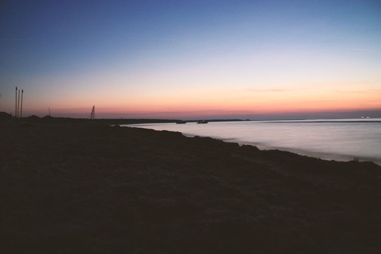 Baltic Sea Calming Holidays Red Relaxing Tranquility Travel Vacations Beach Beach Night Blue Sky Dawn Evening Long Exposure Night Sea Sea View Sunset