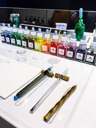 Bottle Indoors  No People Healthcare And Medicine Large Group Of Objects Multi Colored Close-up Day Colours Ink Inks Colores Tintas Japon Japan Writing