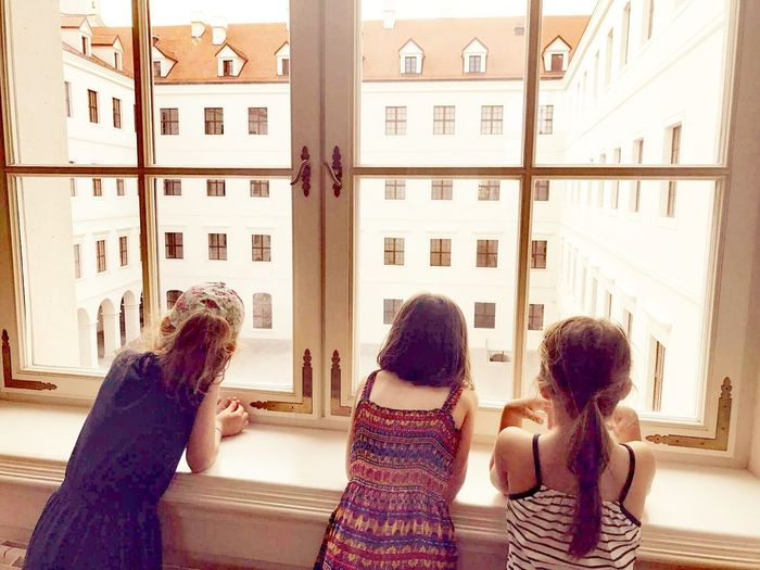 Window Adult Indoors  People Friendship Rear View Togetherness Only WomenArchitecture The Architect - 2017 EyeEm Awards Slovakia Interiors Tranquility Castle Wall Ladies Only  The Great Outdoors - 2017 EyeEm Awards Day Women Group Of People Young Adult Sitting Young Women City The Street Photographer - 2017 EyeEm Awards Girls