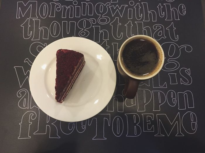 Yummy 😋 - Cake Coffee Americano Red Velvet Yummy Delicious Foodporn Food Lifestyle Dinner Second Acts