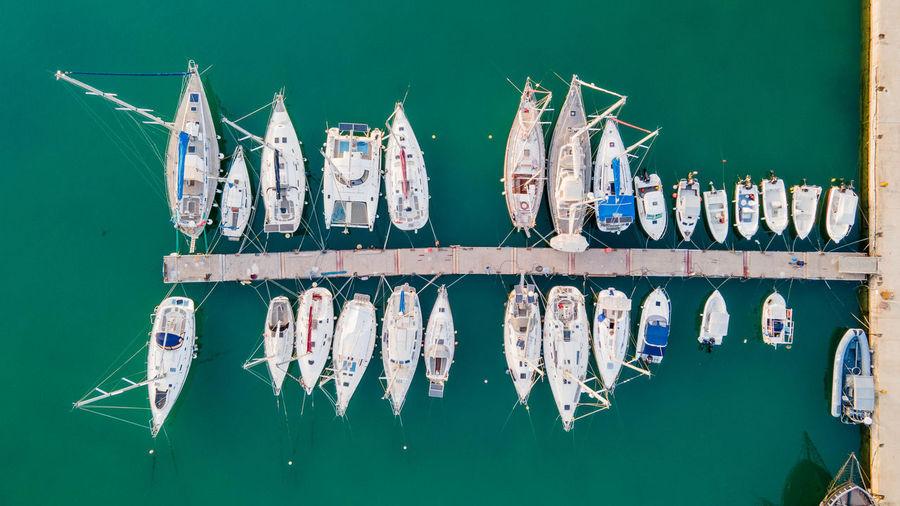 Graffiti on boat in lake